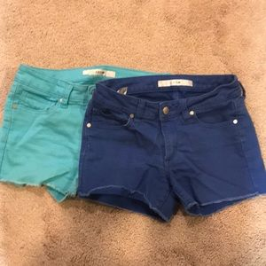 2 Pairs of girls Joes stretchy shorts